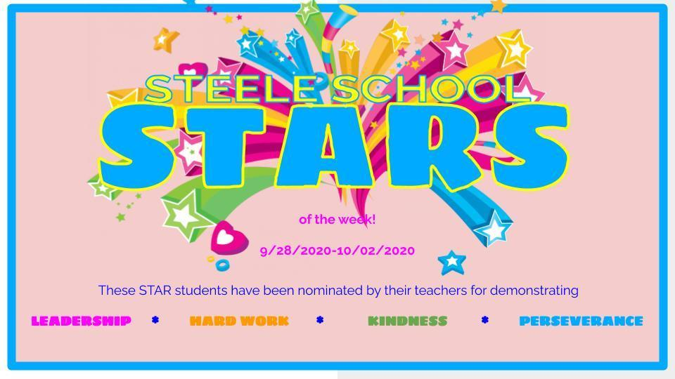 Steele STARS of the week! 9/28-10/2