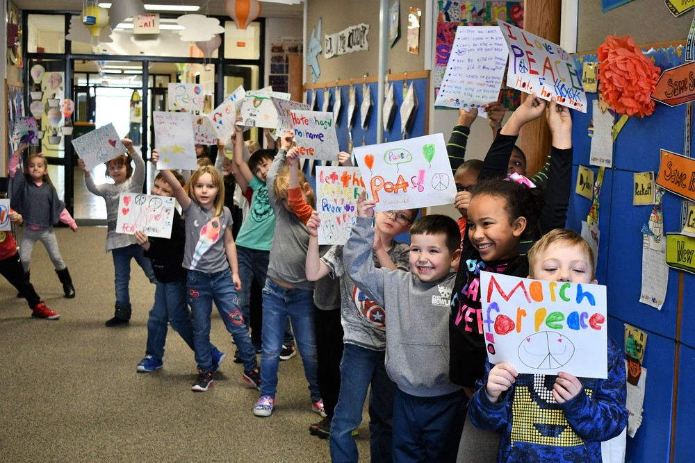 March for Peace at Gale Elementary