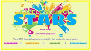 STAR STUDENTS FOR 9/21-9/25!