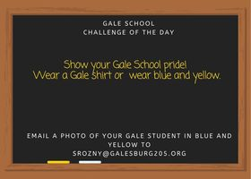 I hope to see many of you wearing your Gale colors today!