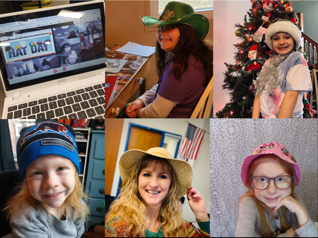hat day collage