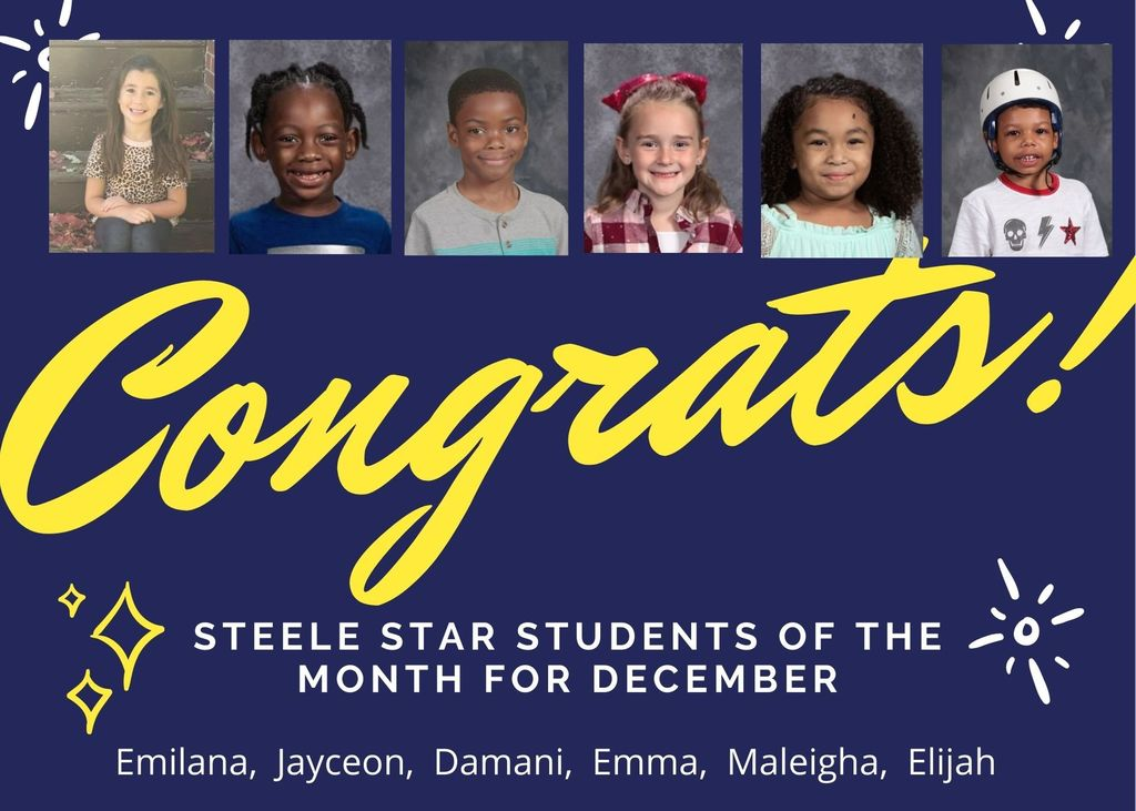 Steele Star Students for December