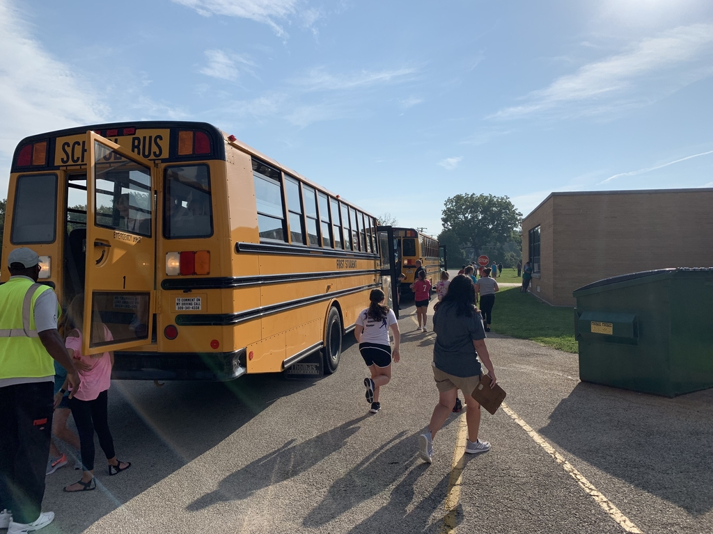 Bus evacuation practice with First Student.