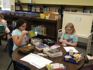 Books and Bites was a huge success today with third through fifth grade students at Gale!
