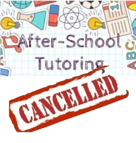 Tutoring Cancelled Thursday