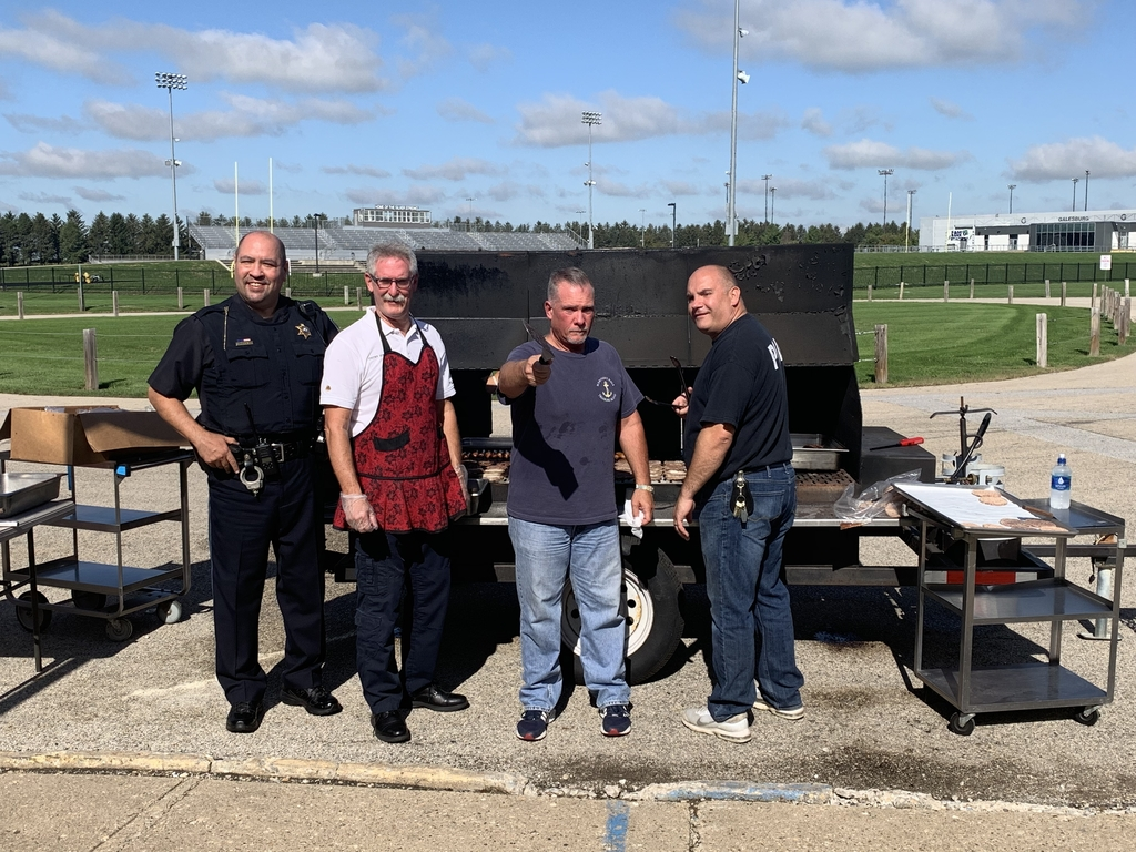 Thank you to Galesburg Police and Fire for grilling out for our kids today!
