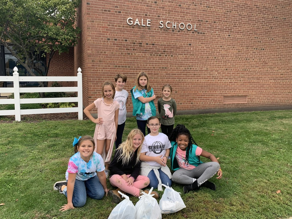 Our Girl Scout Junior Troop helps to keep our school clean!