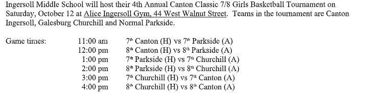 Game Times for Saturday