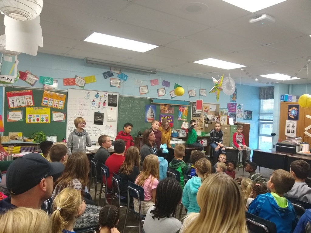 The first Thanksgiving as presented by Mrs. Simpson's class!