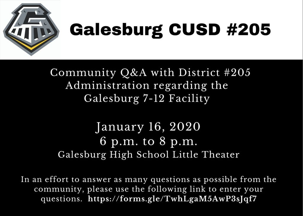 Q&A at Galesburg High School