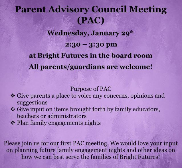 PAC meeting information