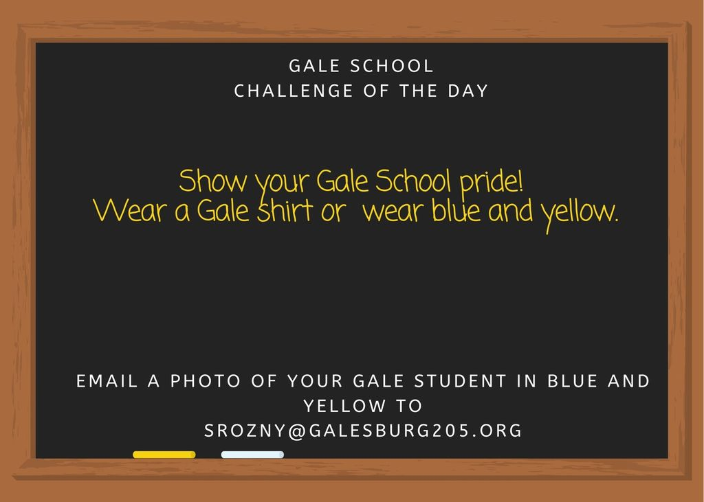 Show your Gale pride in blue and yellow!