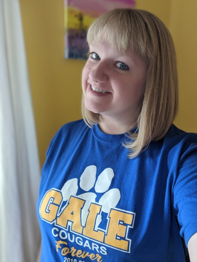 Mrs. Bevenour loves the Gale Cougars!