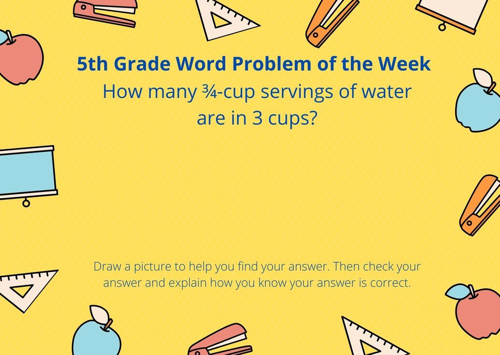 5th Grade Word Problem of the Week