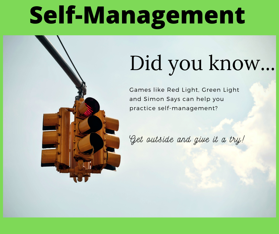 Try our self-management activity for today!