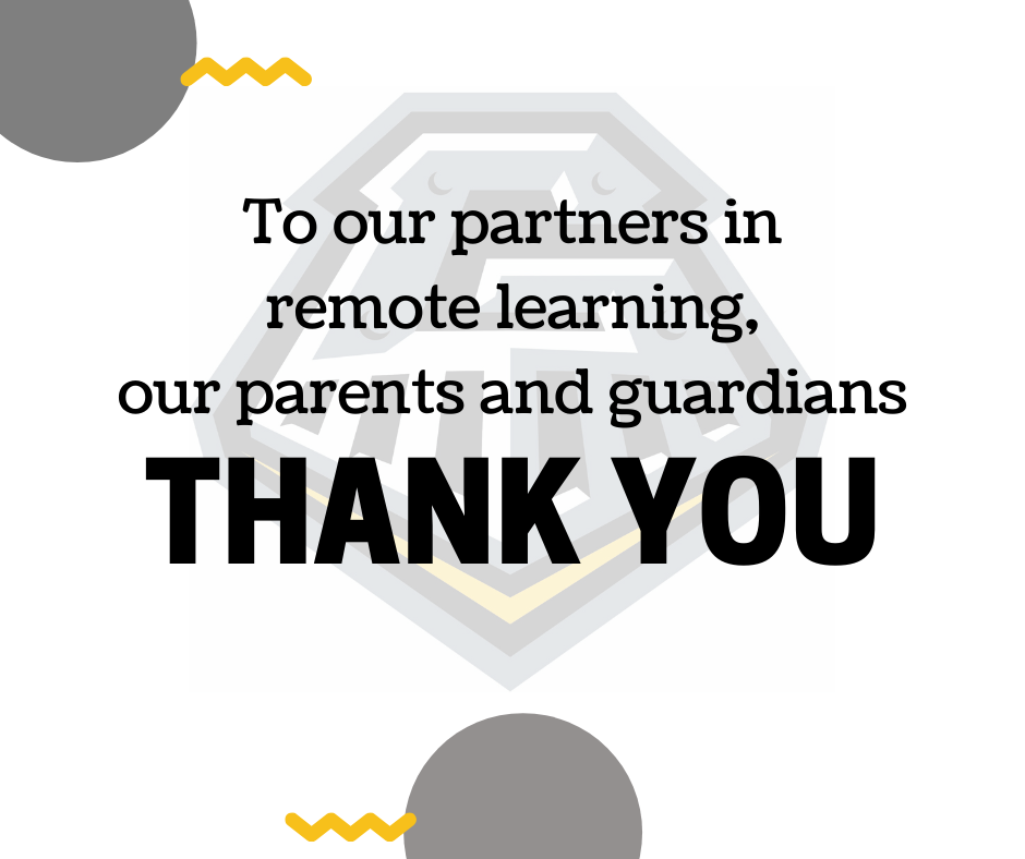 Thank you parents and guardians