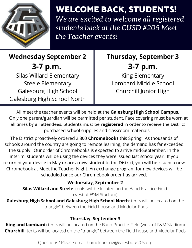 Meet the Teacher Event Flyer